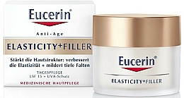 Fragrances, Perfumes, Cosmetics Anti-Aging Facial Day Cream - Eucerin Hyaluron-Filler + Elasticity Day SPF15 Cream