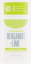 Fragrances, Perfumes, Cosmetics Natural Deodorant - Schmidt´s Naturals Deodorant Bergamot Lime Stick