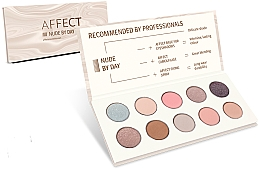 Fragrances, Perfumes, Cosmetics Pressed Eyeshadow Palette - Affect Cosmetics Nude By Day Eyeshadow Palette
