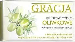 Fragrances, Perfumes, Cosmetics Olive Extract Cream Soap - Gracja Olive Cream Soap