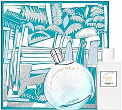 Fragrances, Perfumes, Cosmetics Set (edt/100ml + b/lot/80ml) - Hermes Eau des Merveilles Bleue