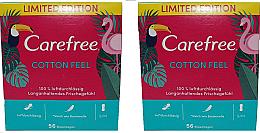 Fragrances, Perfumes, Cosmetics Pantyliners 2X56pcs - Carefree Cotton Feel