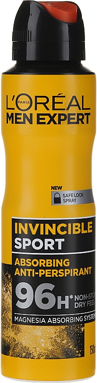 Men Antiperspirant-Deodorant - L'Oreal Men Expert Invincible Sport Deodorant 96H