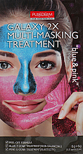 "Fragrances, Perfumes, Cosmetics Facial Peel-Off Multi Mask ""Blue/Pink"" - Purederm Galaxy Multi Masking Treatment Blue & Pink"