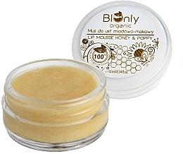 Fragrances, Perfumes, Cosmetics Honey & Poppy Lip Mousse - BIOnly Organic Lip Mousse Honey & Poppy