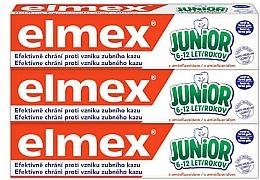 Fragrances, Perfumes, Cosmetics Set - Elmex Junior Toothpaste Set (3xtoothpaste/75ml)