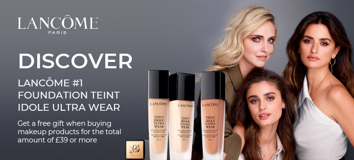 Get a free gift when buying makeup Lancôme products for the total amount of £39 or more