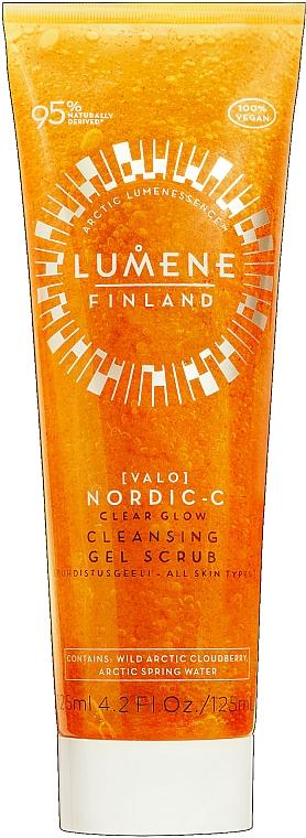 Cleansing Facial Gel Scrub - Lumene Valo Nordic-C Clear Glow Cleansing Gel Scrub