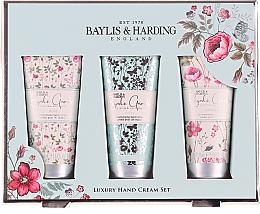 Fragrances, Perfumes, Cosmetics Hand Care Kit - Baylis & Harding Royale Garden Luxury Hand Care Set (h/cr/3x50ml)
