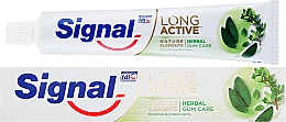 Fragrances, Perfumes, Cosmetics Toothpaste for Gum Protection - Signal Long Active Natural Elements