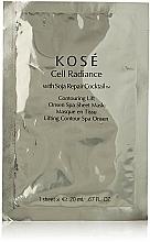 Fragrances, Perfumes, Cosmetics Lifting Sheet Mask - Kose Soja Repair Cocktail Cell Radiance Contouring Lift Onsen Spa Sheet Mask