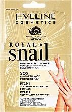 Fragrances, Perfumes, Cosmetics Hand Peeling & Mask - Eveline Cosmetics Royal Snail Sos Regenerating Hand Treatment