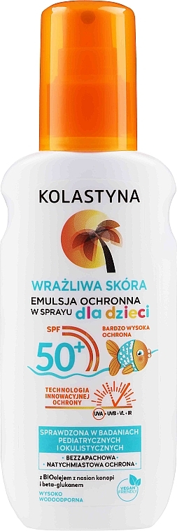 Kids Protective Emulsion Spray for Sensitive Skin - Kolastyna Kids Sensitive Skin SPF50