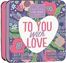 """Fragrances, Perfumes, Cosmetics Soap """"To You With Love"""" - Scottish Fine Soaps To You with Love Soap In A Tin"""