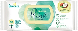 Fragrances, Perfumes, Cosmetics Baby Wet Wipes, 42 pcs - Pampers Pure Coconut