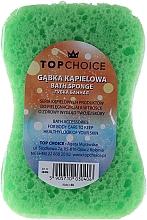 "Fragrances, Perfumes, Cosmetics Bath Sponge ""Motyl"" 30406, white-green - Top Choice"