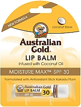 "Fragrances, Perfumes, Cosmetics Lip Balm ""Coconut"" - Australian Gold Lip Balm Infused With Coconut Oil SPF 30"