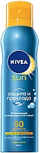 "Fragrances, Perfumes, Cosmetics Refreshing Sunscreen Spray ""Protection and Coolness"" SPF50 - Nivea Sun Care"
