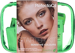 Fragrances, Perfumes, Cosmetics Lash and Brow Coloring Kit - RefectoCil Lash & Brow Starter Sensitive Kit (dye/3x15ml + developer/gel/60ml + tint/remover/150ml + artist/palette + pads + folder)