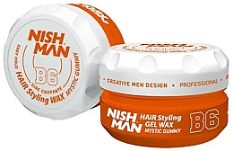 Fragrances, Perfumes, Cosmetics Hair Styling Gel Wax - Nishman Hair Styling Gel Wax B6 Mystic Gummy