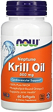 Fragrances, Perfumes, Cosmetics Krill Oil, 500 mg - Now Foods Neptune Krill Oil Softgels
