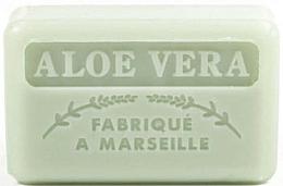 "Fragrances, Perfumes, Cosmetics Marseilles Soap ""Aloe Vera"" - Foufour Savonnette Marseillaise"