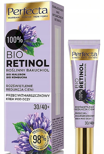 Anti-Wrinkle Eye Cream 30+/40+ - Perfecta Bio Retinol 30+/40+ Eye Cream
