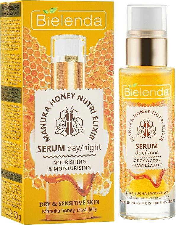 Nourishing Moisturizing Face Serum - Bielenda Manuka Honey Nutri Elixir Serum