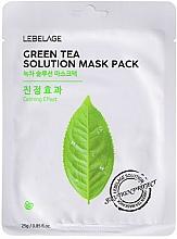 Fragrances, Perfumes, Cosmetics Facial Sheet Mask - Lebelage Green Tea Solution Mask