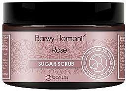 "Fragrances, Perfumes, Cosmetics Body Sugar Peeling ""Rose"" - Barwa Harmony Sugar Rose Peeling"