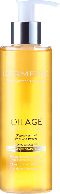 Cleansing Oil for Face - Dermedic Oilage Face Cleansing Oil Syndet