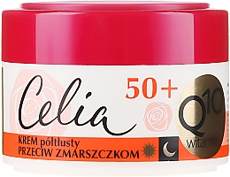 Fragrances, Perfumes, Cosmetics Anti-Wrinkle Cream - Celia Q10 Vitamin 50+