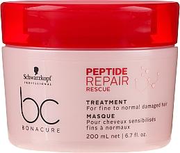 Fragrances, Perfumes, Cosmetics Repair Mask for Thin & Normal Damaged Hair - Schwarzkopf Professional BC Bonacure Peptide Repair Rescue Treatment Mask