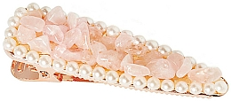 "Fragrances, Perfumes, Cosmetics Hair Clip ""Rose Quartz"" - Crystallove Rose Quartz Hair Clip"