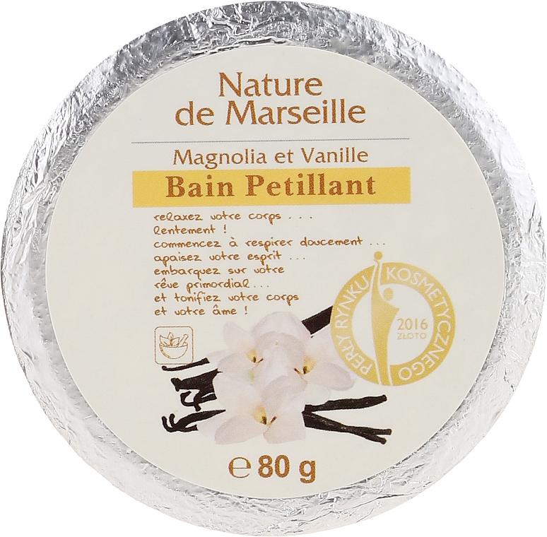 Bath Bomb with Magnolia & Vanilla Scent - Nature de Marseille Magnolias&Vanilla