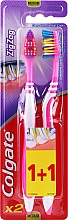 Fragrances, Perfumes, Cosmetics Zig Zag Plus Medium Toothbrush, pink + pink - Colgate Zig Zag Plus Medium