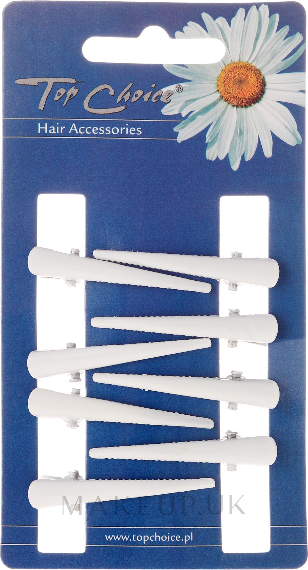 Hairpin, size XS, white, 8 pcs - Top Choice — photo 8 pcs.