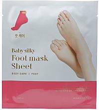 Fragrances, Perfumes, Cosmetics Foot Socks Mask - Holika Holika Baby Silky Foot Mask Sheet