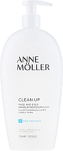 Fragrances, Perfumes, Cosmetics Makeup Removal Fluid - Anne Moller Pro-Defense Makeup Remover Fluid Face and Eyes