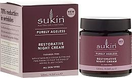Fragrances, Perfumes, Cosmetics Anti-Aging Night face Cream - Sukin Purely Ageless Restorative Night Cream