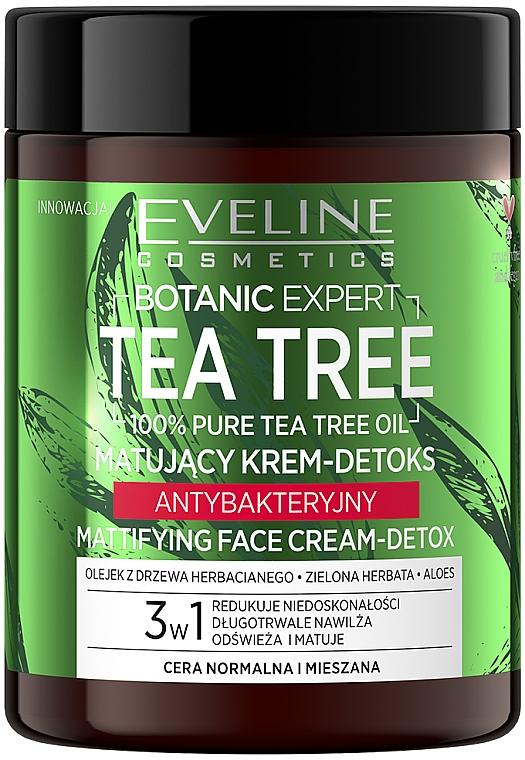 Face Cream - Eveline Cosmetics Botanic Expert Tea Tree Mattifying Face Cream-Detox