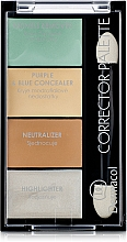 Fragrances, Perfumes, Cosmetics Corrector & Highlighter Palette - Dermacol Corrector Palette