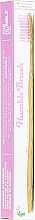 Fragrances, Perfumes, Cosmetics Bamboo Toothbrush, pink - The Humble Co. Adult Soft Purple Toothbrush