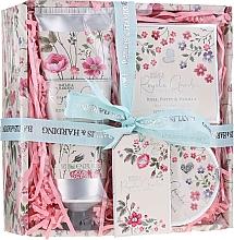 Fragrances, Perfumes, Cosmetics Set - Baylis & Harding Royale Garden Rose Poppy And Vanila (sh/cr/130ml + b/butter/100ml + soap/150g)