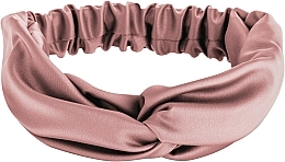 "Fragrances, Perfumes, Cosmetics Headband, Satin Cross, dusty pink ""Satin Twist"" - MakeUp Hair Accessories"