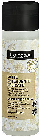 """Cleansing Face Milk """"White Lupine & Mulberry"""" - Bio Happy Face Milk Cleanser"""