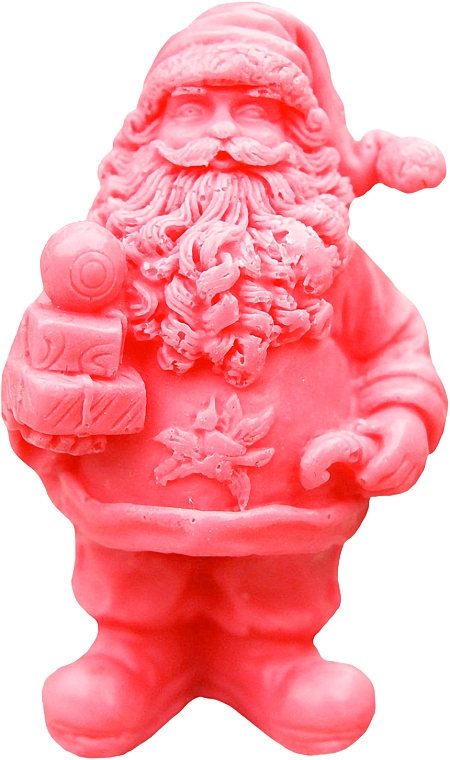 """Natural Handmade Soap """"Saint Nicholas with Gifts"""" Red, with Cherry Scent - LaQ Happy Soaps Natural Soap"""
