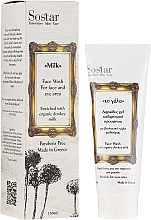 Fragrances, Perfumes, Cosmetics Face Cleansing Foam - Sostar Face Wash with Donkey Milk