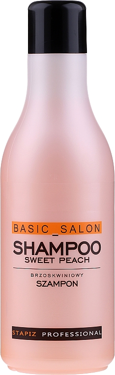 """Hair Shampoo """"Peach"""" - Stapiz Basic Salon Shampoo Sweet Peach"""
