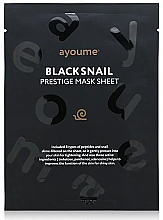 Fragrances, Perfumes, Cosmetics Moisturizing Facial Snail Sheet Mask - Ayoume Black Snail Prestige Mask Sheet